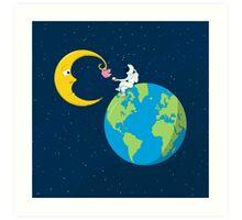 Talk to the Moon Art Print