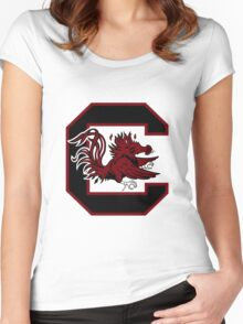 south carolina logo Women's Fitted Scoop T-Shirt