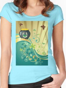 St Patricks Day Design 11 Women's Fitted Scoop T-Shirt
