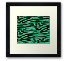 0296 Green (Crayola) Tiger Framed Print