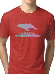 Flying Whale Tri-blend T-Shirt