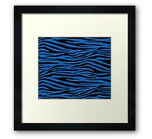 0297 Green-Blue Tiger Framed Print