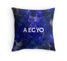 AEGYO - BLUE FLORAL  Throw Pillow