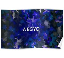 AEGYO - BLUE FLORAL  Poster