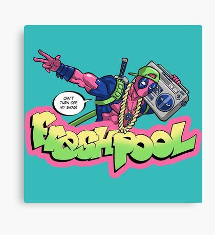 Fresh Pool (cool colors) Canvas Print