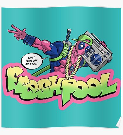 Fresh Pool (cool colors) Poster