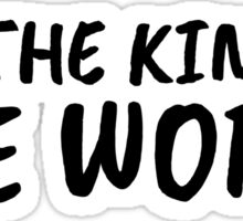 Titanic Quote Im The King Of The World Movie Sticker