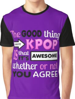 GOOD THING ABOUT KPOP - PURPLE Graphic T-Shirt