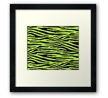0298 Green-Yellow Tiger Framed Print