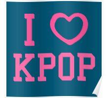 I HEART KPOP - BLUE Poster