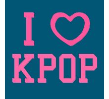 I HEART KPOP - BLUE Photographic Print