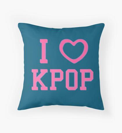 I HEART KPOP - BLUE Throw Pillow