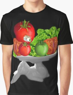 SOME BUNNY IS SERVING  SOME LETTUCE & TOMATOES--VEGETARIAN VARIOUS APPAREL Graphic T-Shirt