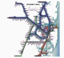Sydney City Rail Map One Piece - Short Sleeve