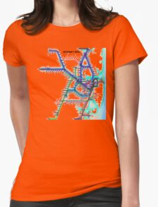 Sydney City Rail Map Womens Fitted T-Shirt