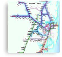 Sydney City Rail Map Metal Print