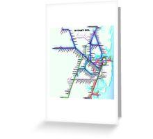 Sydney City Rail Map Greeting Card