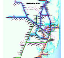 Sydney City Rail Map Photographic Print