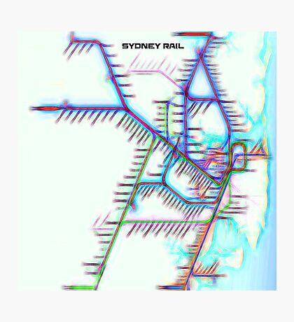Sydney City Rail Map Photographic Print