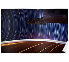 Star Trail Photography  2  - Earth From Space Poster