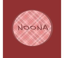 NOONA CIRCLE - PINK PLAID Photographic Print
