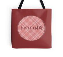 NOONA CIRCLE - PINK PLAID Tote Bag