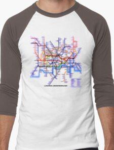 London Underground Tube Men's Baseball ¾ T-Shirt