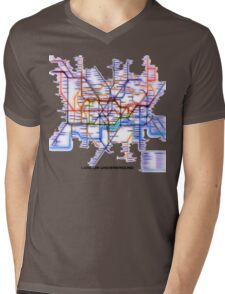 London Underground Tube Mens V-Neck T-Shirt