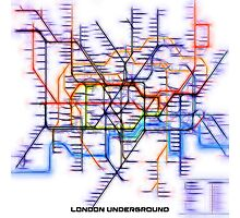 London Underground Tube Photographic Print