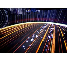 Star Trail Photography 3  - Earth From Space Photographic Print