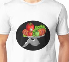 SOME BUNNY IS SERVING  SOME LETTUCE & TOMATOES--VEGETARIAN VARIOUS APPAREL Unisex T-Shirt