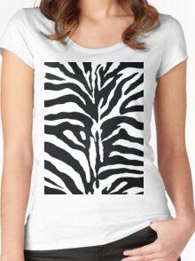Zebra Women's Fitted Scoop T-Shirt