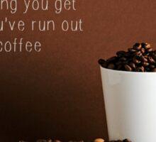 Depresso without coffee Sticker