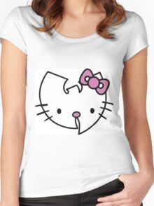 Hello kitty wu tang clan logo Women's Fitted Scoop T-Shirt