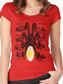 Octopus unique style  Women's Fitted Scoop T-Shirt