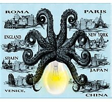 Octopus unique style  Photographic Print