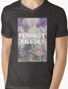 Floral Feminist Killjoy Mens V-Neck T-Shirt