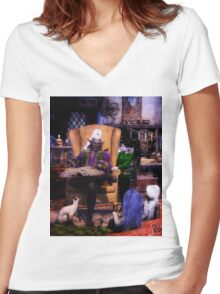 The Lesson Women's Fitted V-Neck T-Shirt