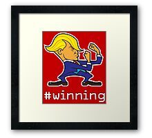 #WINNING Framed Print
