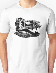 T-Rex Halfdot Skull Unisex T-Shirt