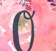 Pretty in Pink - O Sticker