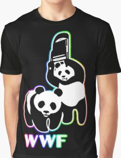 WWF (Behind The Scene) Colored Graphic T-Shirt