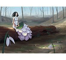 Snowdrop - Fantasy Woman In Spring Forest Photographic Print