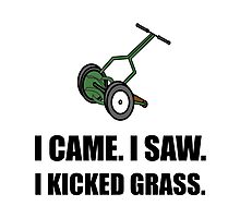 Came Saw Kicked Grass Photographic Print