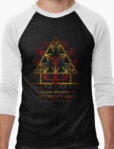 SACRED GEOMETRY METATRON MATRIX Men's Baseball ¾ T-Shirt