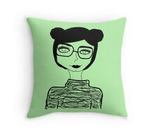 Sophisticated Little Lady  Throw Pillow