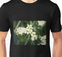 Backyard Blooms- Little White Flowers  Unisex T-Shirt