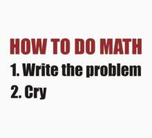 How To Do Math Kids Tee