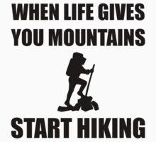 Mountains Start Hiking Kids Tee