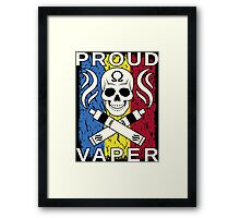 Proud Vaper | Romania Framed Print